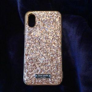 Kate spade glitter phone case IPHONE x/XS